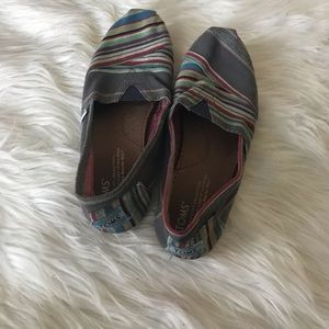 Toms traditional canvas slip ons